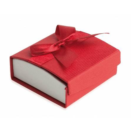 Écrin noeud rouge collier & boucles d'oreilles