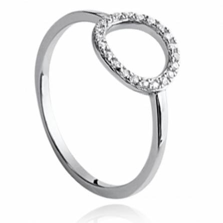 戒指 女士 银 Akilah 圆形