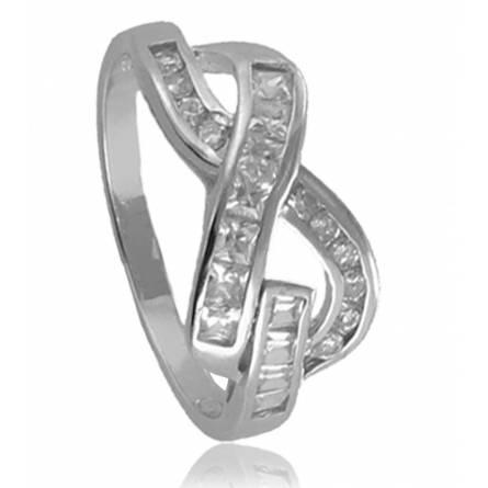 戒指 女士 银 Croisé 2