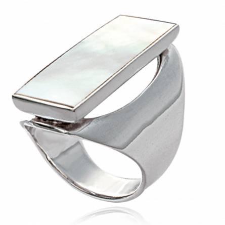戒指 女士 银 Laura 矩形