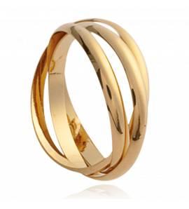 Aliança de Casamento banhado a ouro Jeux  union 1