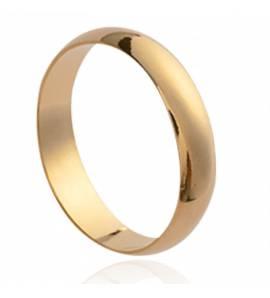 Aliança de Casamento masculino banhado a ouro Union 4
