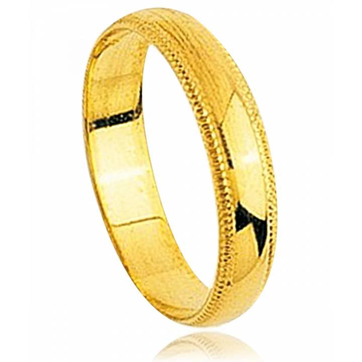 9425b11eb61 Aliança de Casamento Masculino   Feminino Arsenios Ouro Amarelo Ouro ...