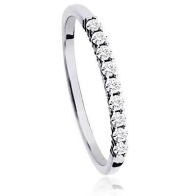 Alliance Or Blanc Et Diamants Astrik