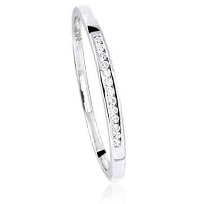 Alliance Or Blanc Et Diamants Lacinia