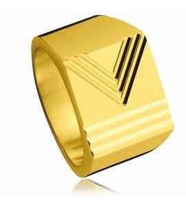 Anel com brasão banhado a ouro Vectorielle
