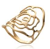 Anel feminino banhado a ouro Expression