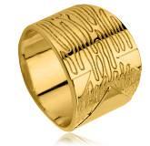 Anel feminino banhado a ouro Omiay