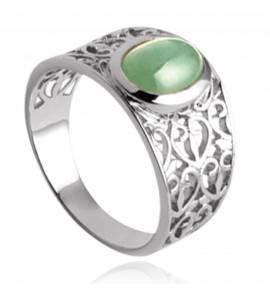 Anel feminino prata Tabatha verde