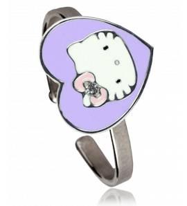 Anel Hello Kitty Violeta