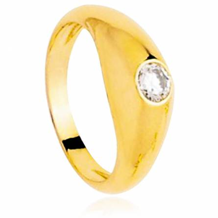 Anelli con sigillo  uomo placato in oro Eleuthère giallo