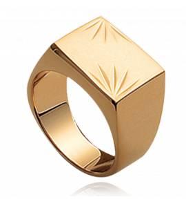 Anelli con sigillo  uomo placato in oro Sagesse quadradato