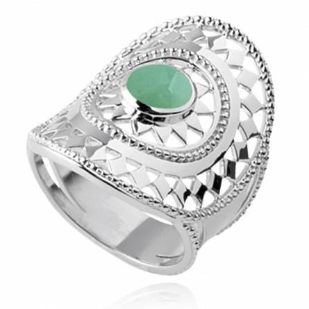 Anello donna argento Abbie verde