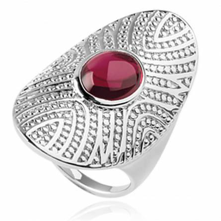 Anello donna argento MELYNA rosso