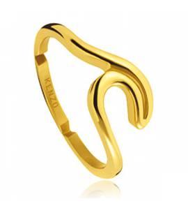 Anello donna placato in oro Ligne Waves