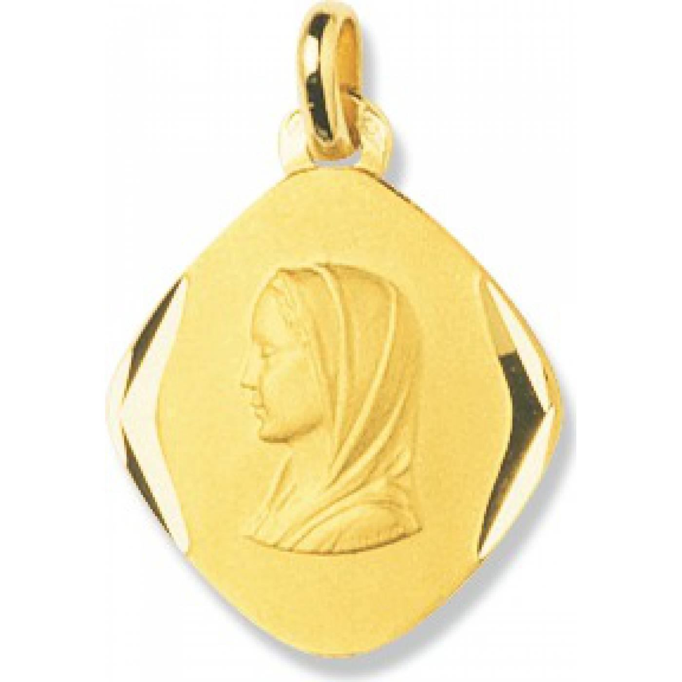 Anhänger Medaillon Frauen Vierge Marie Gelbgold Murat Paris