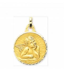 Anhänger kind gold Ange Raphaël rund