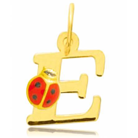 Anhänger kind gold Moderne brief gelb