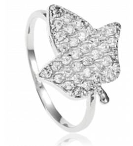 Anillo mujer metal-rhodie Feuille