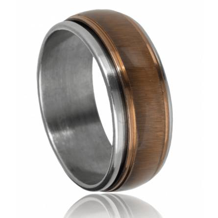 Anti-Stress-Ring herren stahl Durango braun