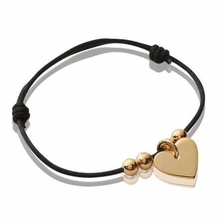 Armband frauen goldplattiert Astre de coeur herz