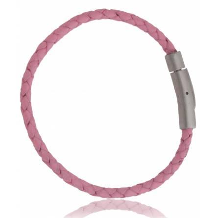 Armband frauen leder Fino rosa