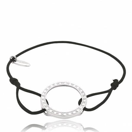 Armband frauen wachsbaumwolle Héritage schwarz