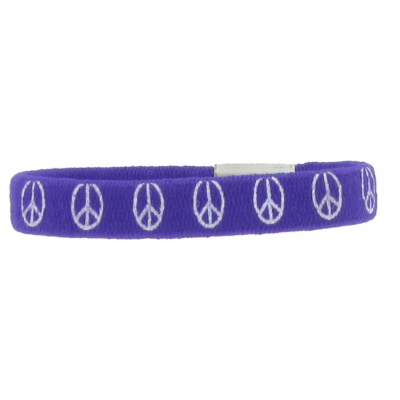 armband friedenszeichen kind peace gummi violett. Black Bedroom Furniture Sets. Home Design Ideas