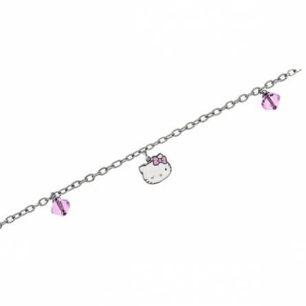 Armband kind stahl Smart rosa
