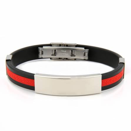 Armband silikon Valentin  rot