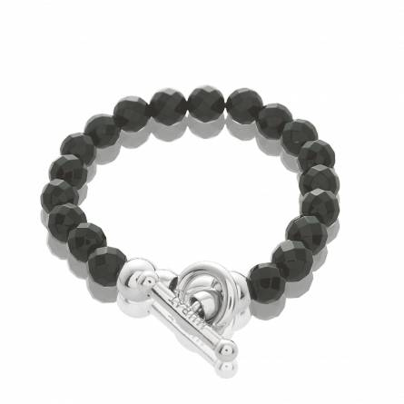 Armbandbedels dames zilver Extase zwart