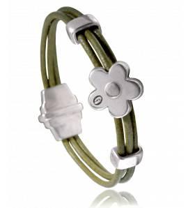 Armbanden dames leer Dolomiti  groen