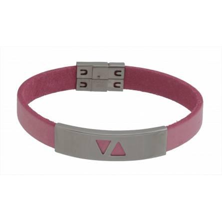 Armbanden dames leer Enéa roze