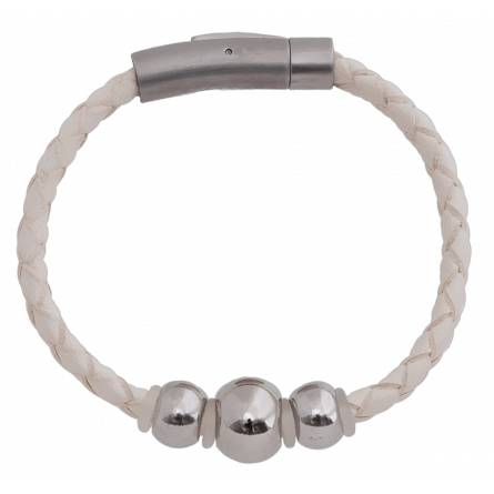 Armbanden dames leer Fanette wit