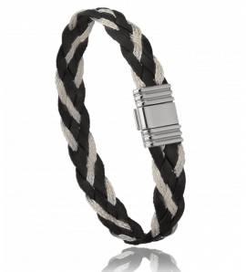 Armbanden heren koper Keona grijs