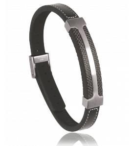 Armbanden heren roestvrijstaal Anaconda zwart