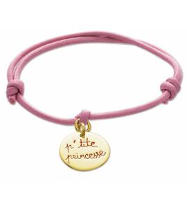Armbanden kind katoen P' tite princesse roze