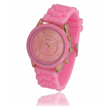 Armbanduhren frauen silikon  emi rosa
