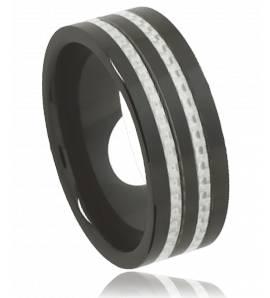Bague acier noir subsonique