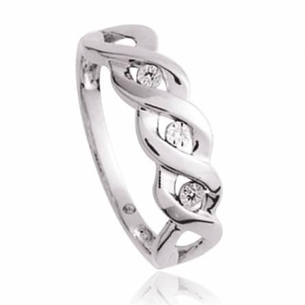 Bague Argent Rhodie diamant Eros