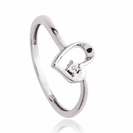 Bague Argent Rhodie diamant Oenghus
