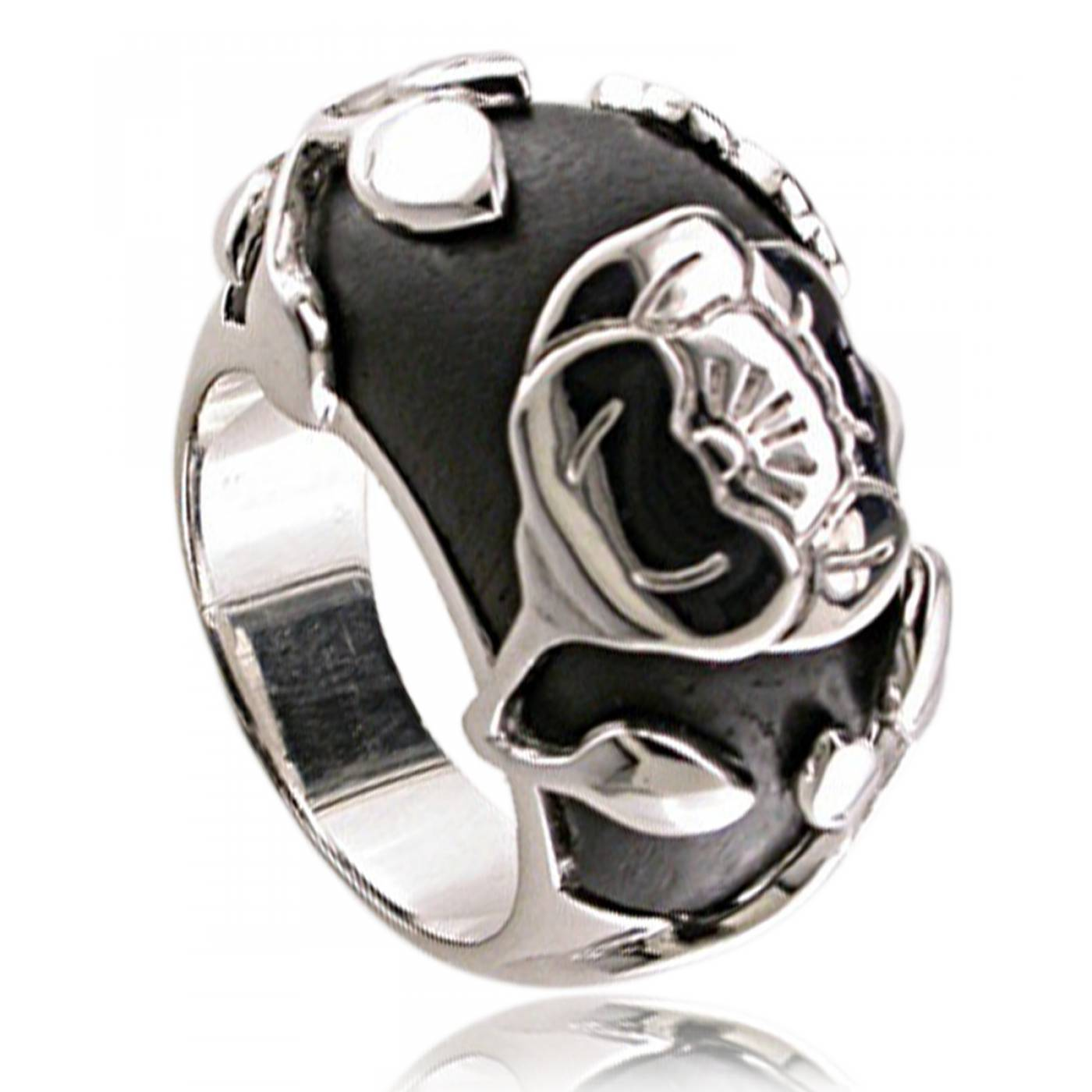 bague femme rosewood argent bois noir kenzo. Black Bedroom Furniture Sets. Home Design Ideas