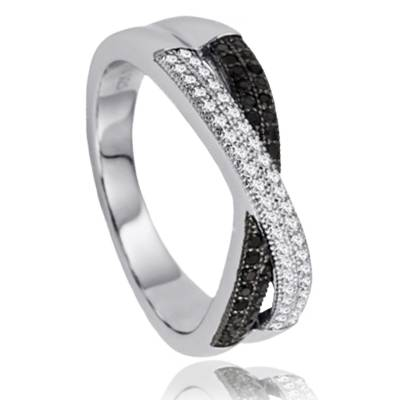 Bague Black n' white