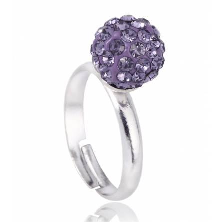 Bague cristal violet  Multistrass
