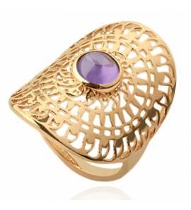 Bague femme pierre Eilwen violet