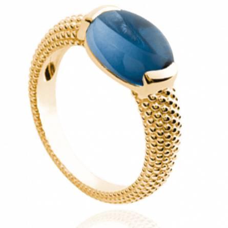 Bague femme pierre Elisaveta bleu