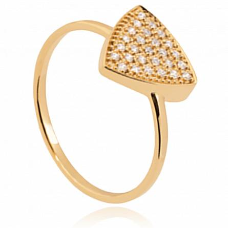 Bague femme plaqué or Ailling triangle