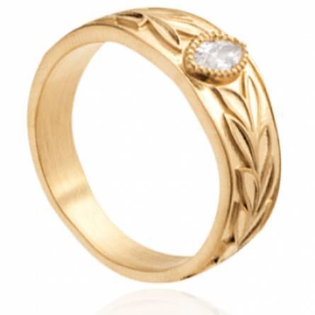Bague femme plaqué or Arline