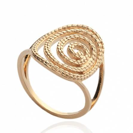 Bague femme plaqué or Chryssa spirale
