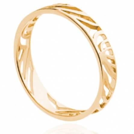 Bague femme plaqué or Dinaya